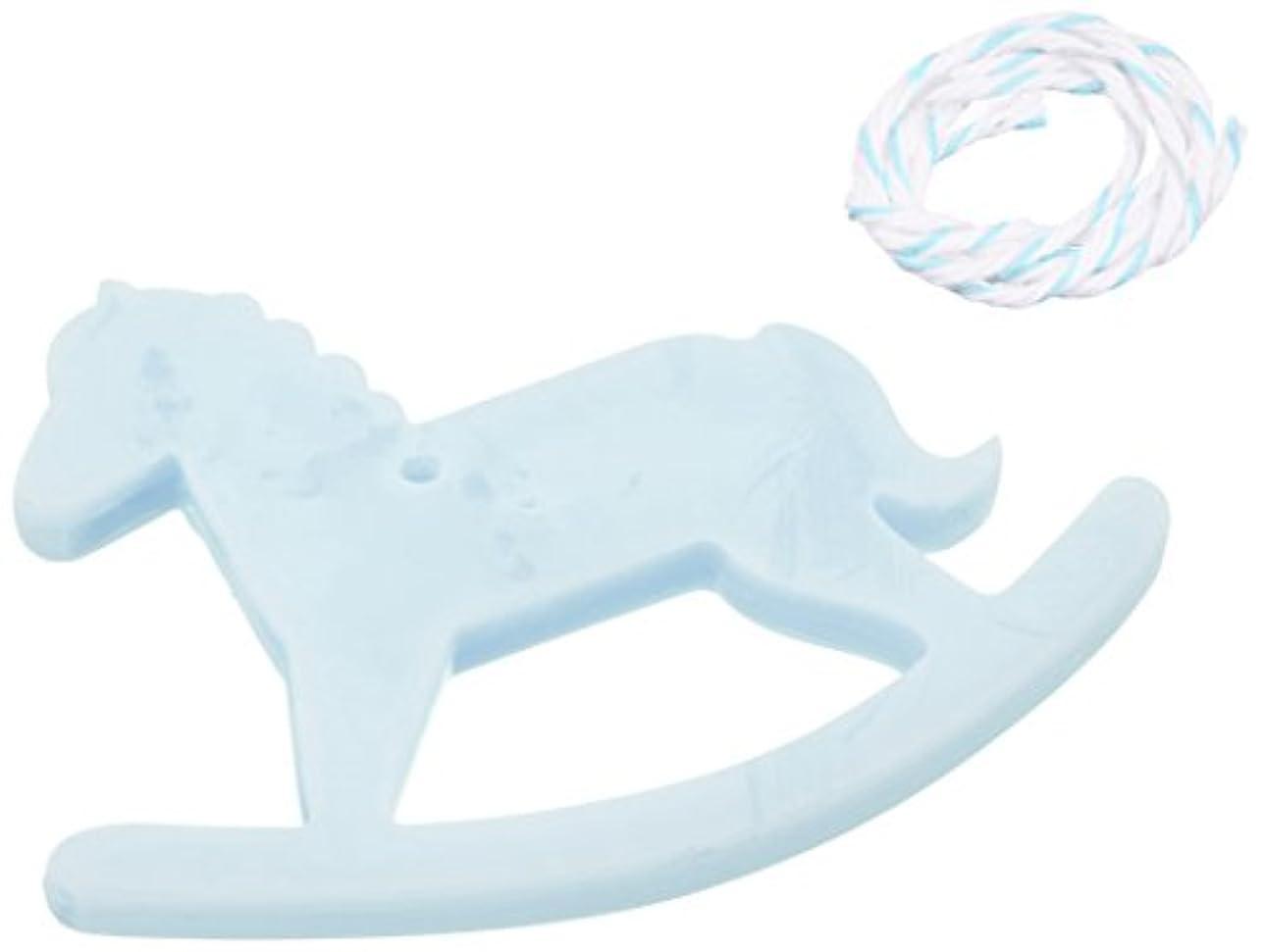 不愉快により平らなピンチGRASSE TOKYO AROMATICWAXチャーム「木馬」(BL) ローズマリー アロマティックワックス グラーストウキョウ