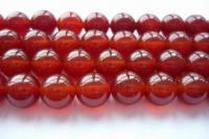 【天然石 パワーストーン ビーズ】レッドアゲート(赤瑪瑙)丸玉(1連約40cm) 8mm