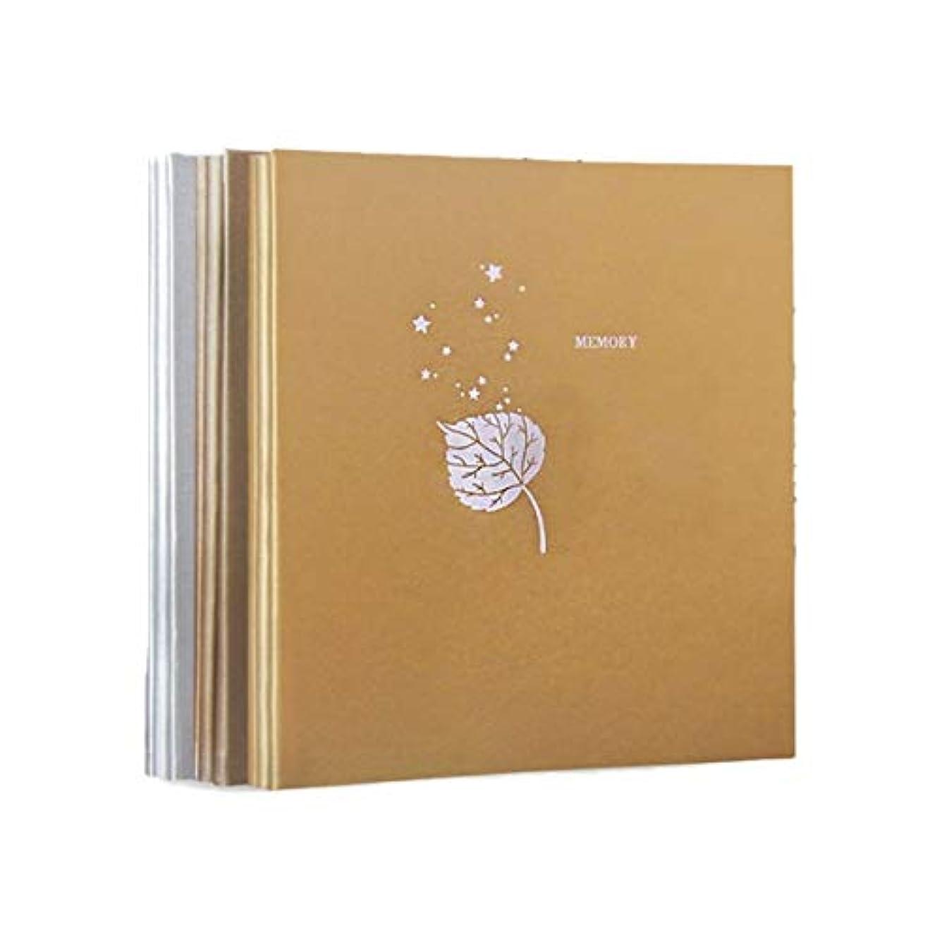 傷つきやすい割れ目つまらないRCDD 革のフォトアルバム、Diyの手接着のアルバム、創造的なロマンチックなカップルの自己接着フィルムアルバムの記憶アルバム (Color : 1, Size : A)