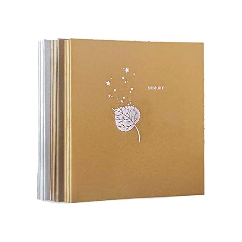 誤組み合わせエッセンスWXZD 革のフォトアルバム、Diyの手接着のアルバム、創造的なロマンチックなカップルの自己接着フィルムアルバムの記憶アルバム (Color : 2, Size : B)