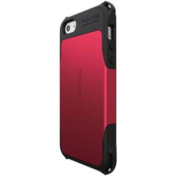 ELECOM iPhone SE/5/5S 全方向衝撃吸収ケース ZEROSHOCKシリーズ レッド PS-A12ZERORD