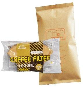 カリタ102コーヒーフィルター 2~4人用 100枚入り タンザニア(キリマンジャロ) 120g 1...