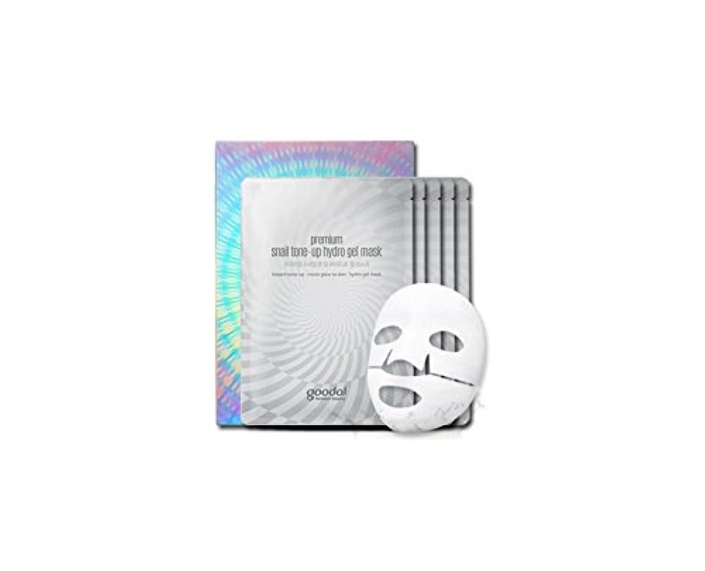 goodal Premium Snail Tone Up Hydro Gel Mask (35g×5pcs)/グーダル プレミアム スネイル トーンアップ ハイドロ ゲル マスク (35g×5pcs)