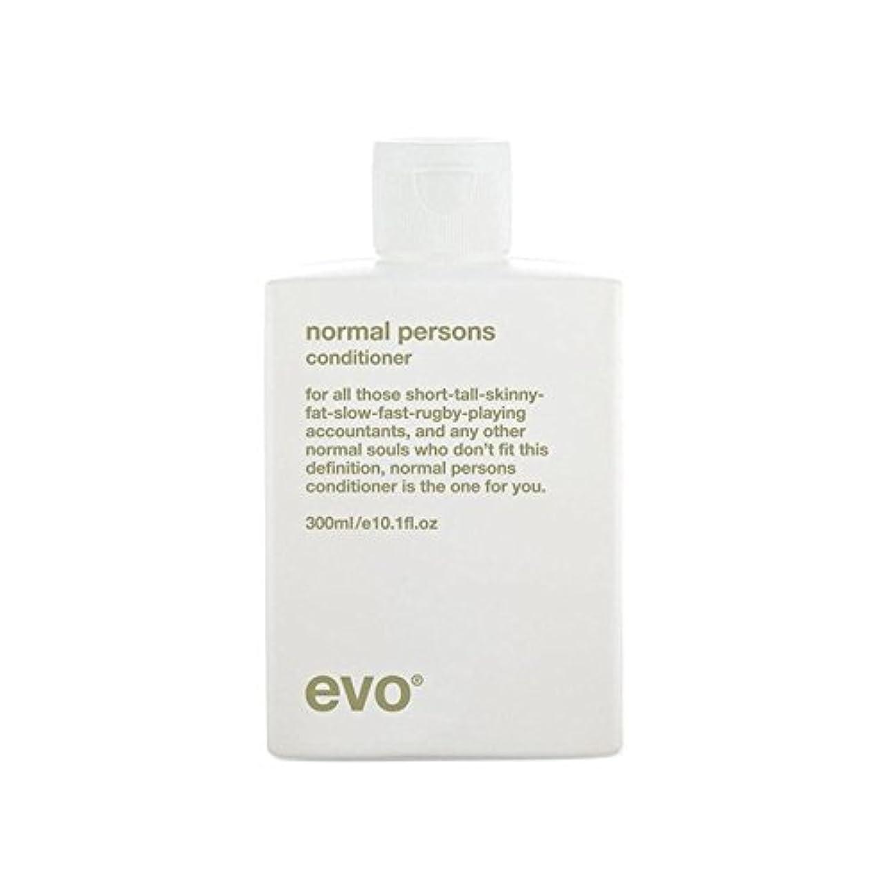 好きやむを得ないヘアエボ正常人コンディショナー(300ミリリットル) x2 - Evo Normal Persons Conditioner (300ml) (Pack of 2) [並行輸入品]