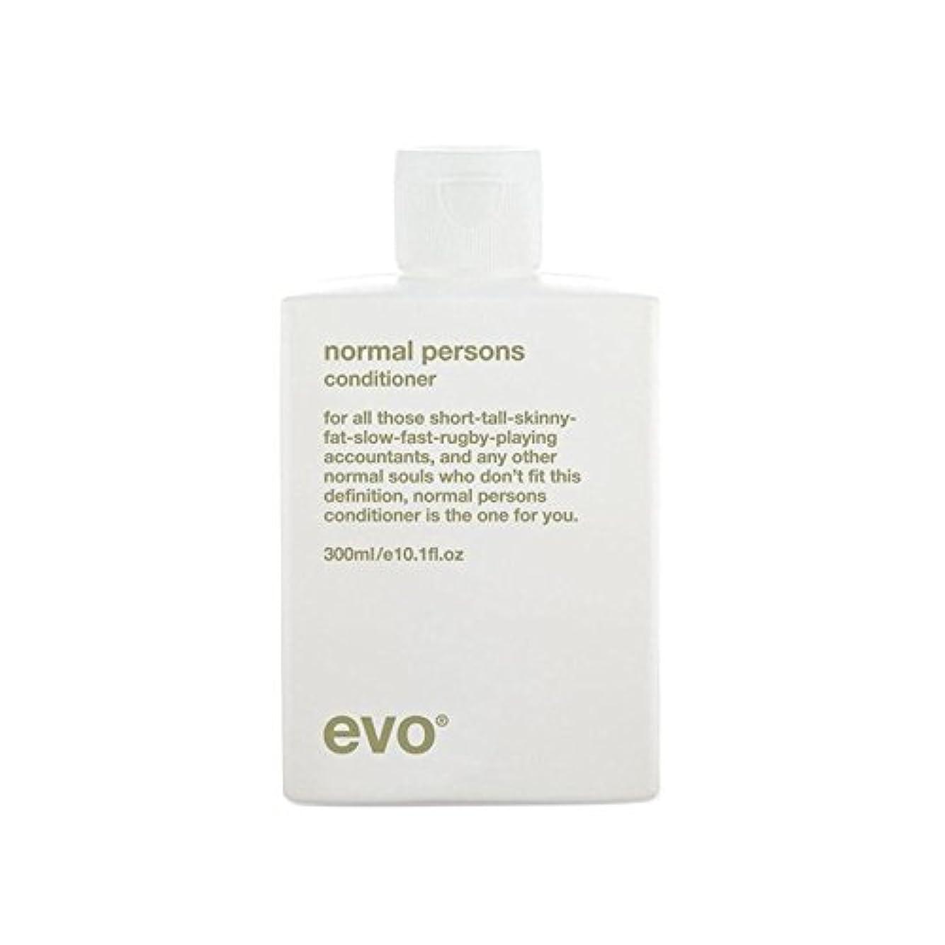 フェロー諸島安定したふけるエボ正常人コンディショナー(300ミリリットル) x4 - Evo Normal Persons Conditioner (300ml) (Pack of 4) [並行輸入品]