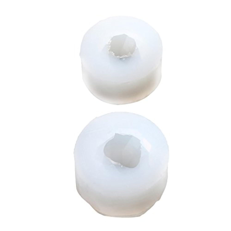 Fityle 2サイズ入り 人気 シリコーン金型 ダイヤモンド形状 ジュエリー作成 DIYペンダント金型