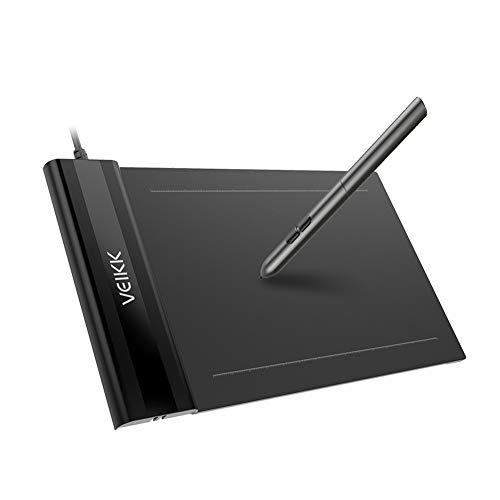 超薄型ペンタブレットVEIKK 正規品 S640 6x4インチ 8192レベル筆圧 2mm厚さ、(P06)バッテリー不要ペン