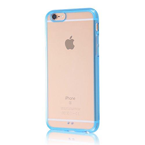 レイ・アウト iPhone6 ケース カラフルソフトシェルジャケット クリアブルー RT-P7CC2/TA