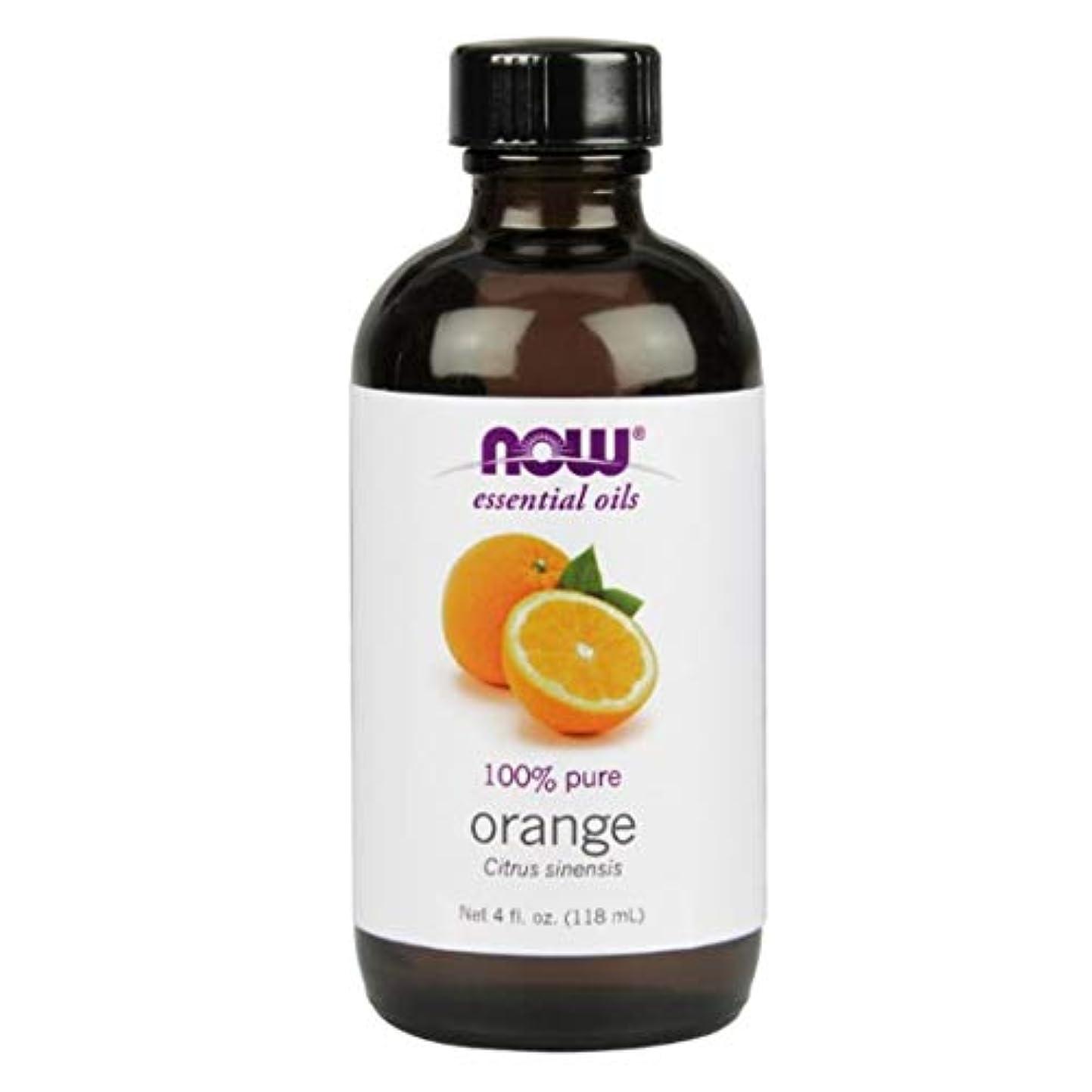 海賊精査明示的にNow - Orange Oil 100% Pure 4 oz (118 ml) [並行輸入品]