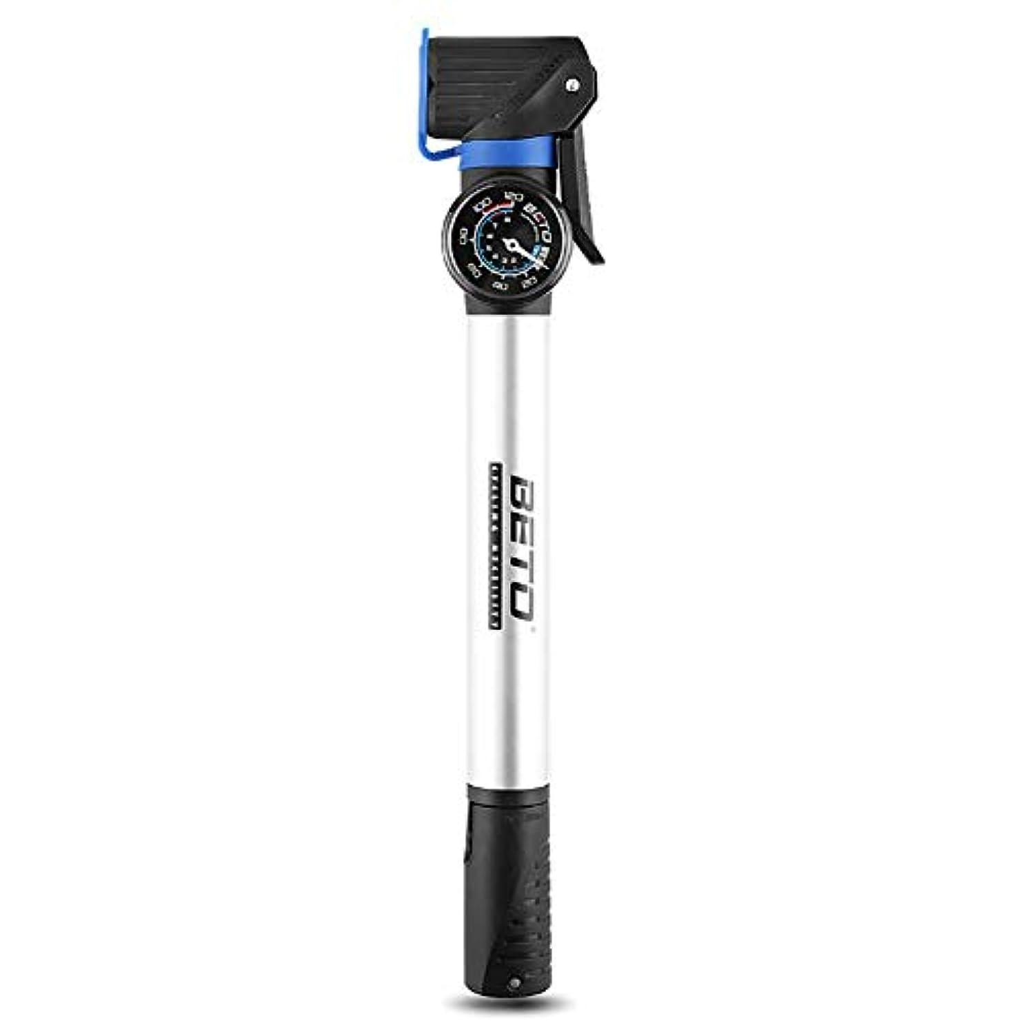 プロペラ雇用モニカポータブルアルミ合金ポンプ、圧力計付き、マウンテンバイク用、電動車、バスケットボール用、コンパクトで軽量のハンドヘルドエアーポンプ