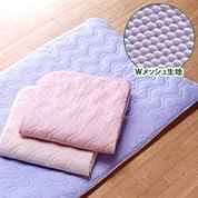 マイナス2℃シリーズキシリトール効果で清涼感抜群の安眠寝具 Wメッシュキルト敷きパット シングルサイズピンク