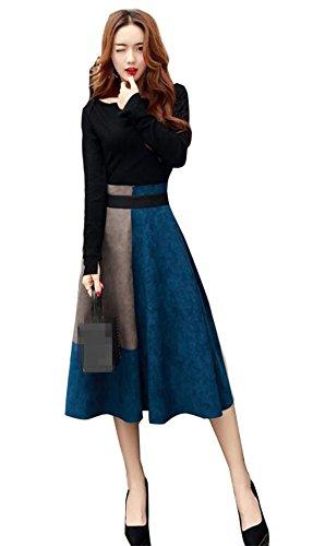 [해외][에니 신구] Anything 가을 원피스 투피스 2 종 세트 긴팔 디아무 길이 체형 커버 A 라인 직장 OL 정장/[Anything] Anything Autumn One Piece Two Piece 2 Piece Long Sleeve Diam Length Cover A Line Working OL Formal Dress