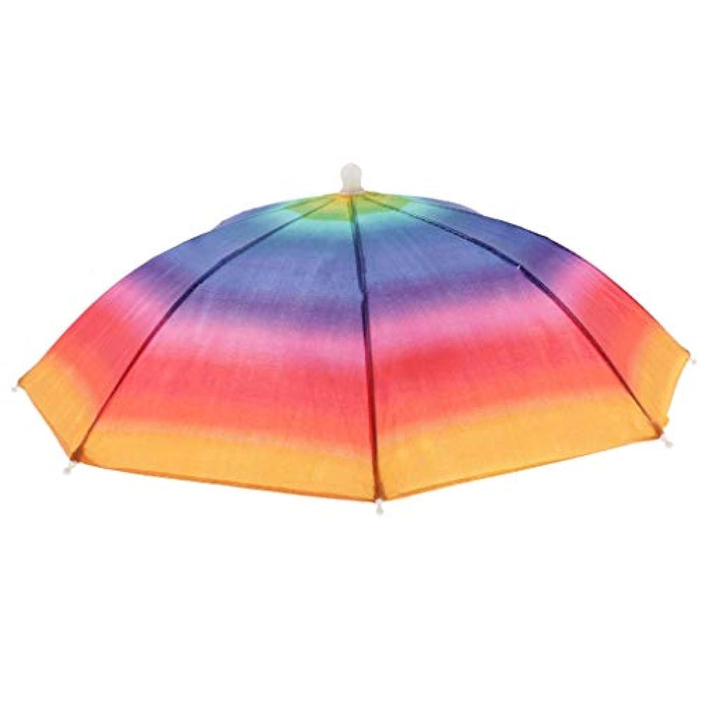 粘り強いメニュー指導するPerfk 調節可能 傘帽子 パラソル傘 傘ハット アウトドア ハイキング用 全3選択