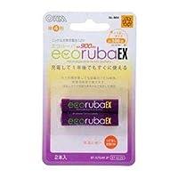 (まとめ) オーム電機 ecorubaEX ニッケル水素充電池 大容量タイプ 単4形2本パック BT-JUTG4H2P 【×5セット】