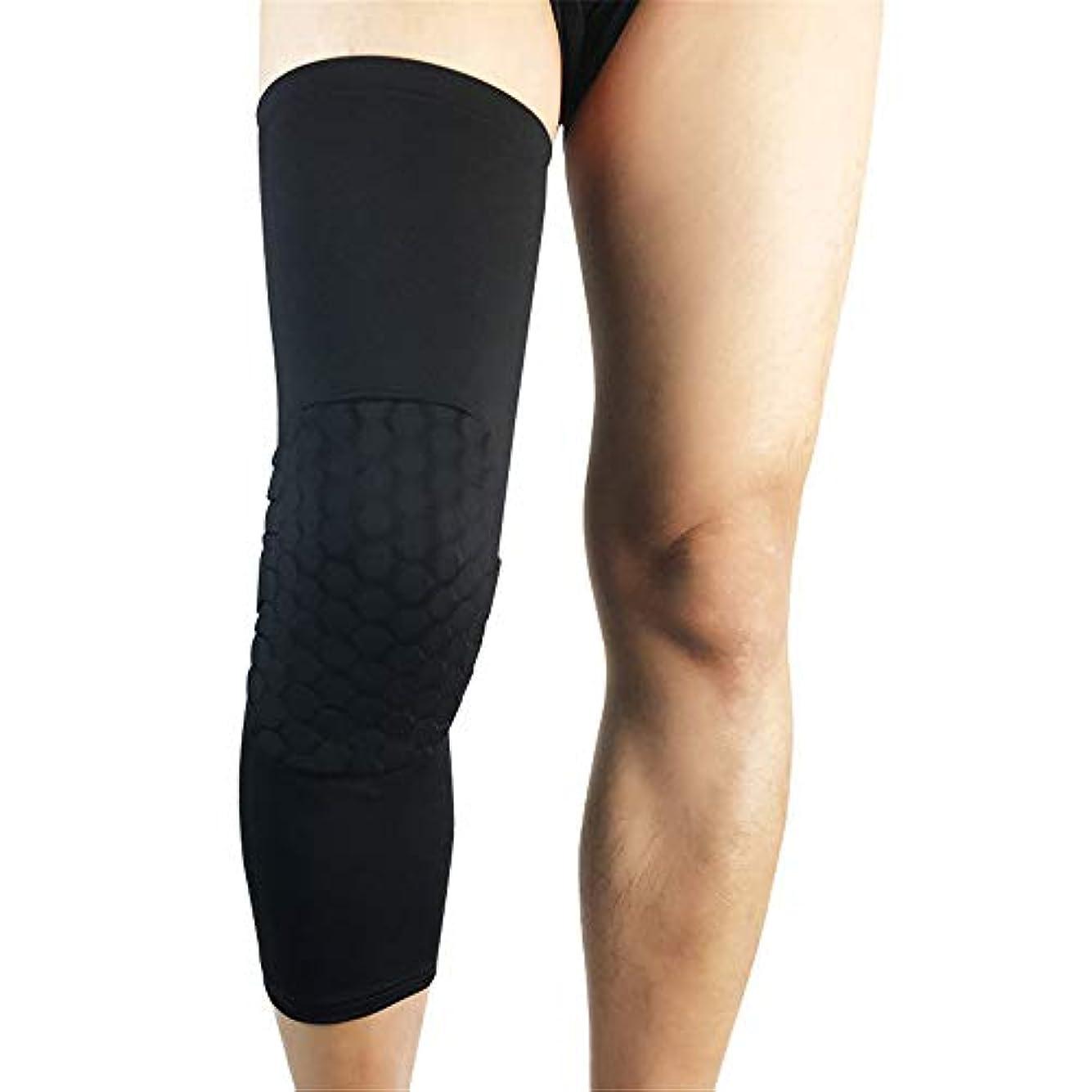 段階サイクロプスマリナーサッカー膝サポートアンチスリップニーブレース超弾性通気性膝圧迫スリーブは関節炎苦しみのための関節痛緩和を助け、スポーツのための傷害からの回復 (色 : ブラック, サイズ : M)
