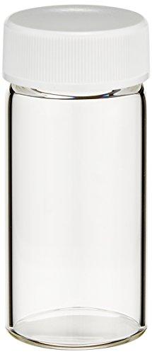 日電理化硝子(NEG) ねじ口瓶 無色 SV-30 メラミン白キャップ ダブルPTFEパッキン付 50本 250830