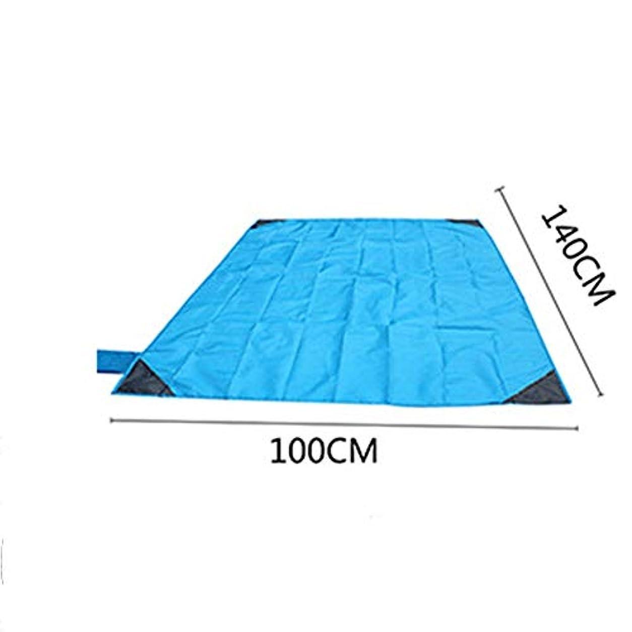オーブンバスケットボールアートZXK 屋外の防水および湿気防止の浜のピクニックマットの軽量の屋外のキャンプのマット 丈夫 (色 : Blue)