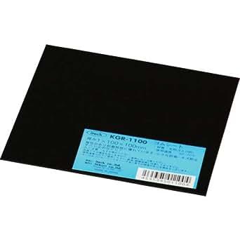 アイテック 天然ゴム板 100x100mm 厚さ1mm 黒 KGR-1100