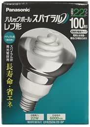 パナソニック 電球形蛍光灯 レフ形 電球100Wタイプ ナチュラル色(昼白色) E26口金 パルックボール スパイラル EFR25EN/22-SP