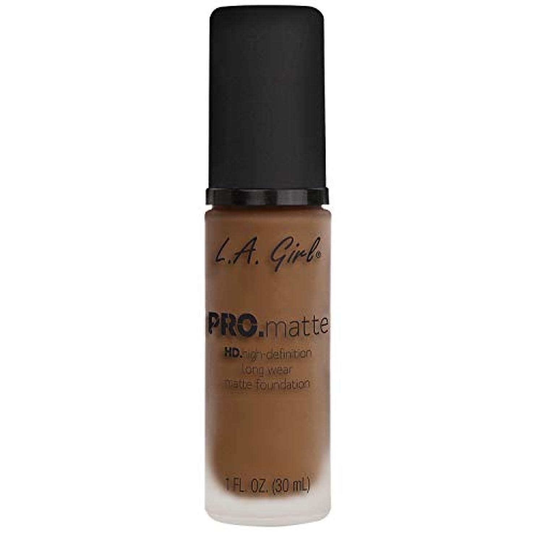 広範囲ステレオタイプメッセンジャー(3 Pack) L.A. GIRL Pro Matte Foundation - Deep Tan (並行輸入品)
