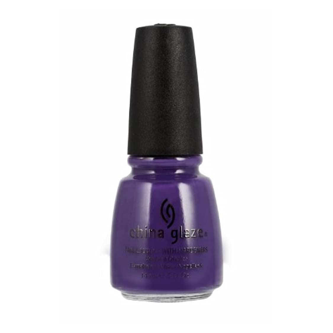時々時々含意走る(3 Pack) CHINA GLAZE Nail Lacquer with Nail Hardner 2 - Grape Pop (並行輸入品)