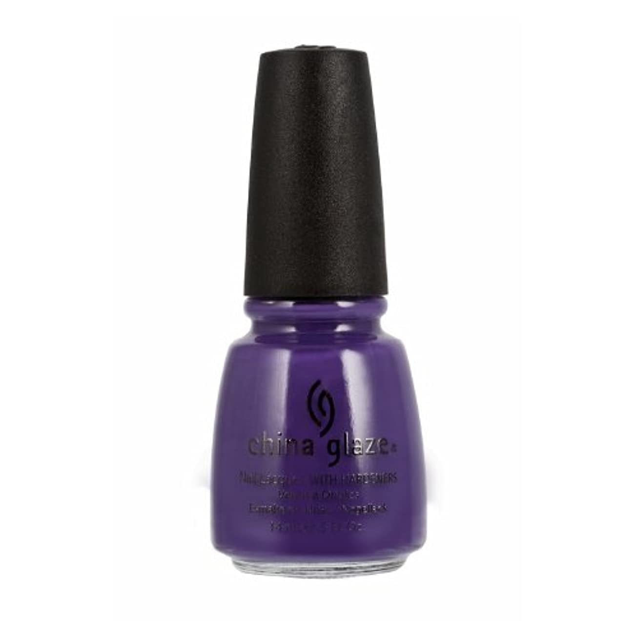 広い獣飾り羽(6 Pack) CHINA GLAZE Nail Lacquer with Nail Hardner 2 - Grape Pop (並行輸入品)