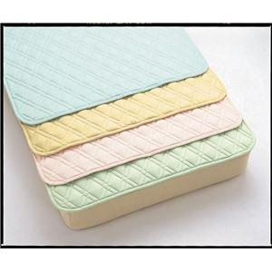 西川リビング ベッドパッド ナースカラーベッドパット(洗濯ネット付)SSHライトグリーン83 3022-00019 53 [簡易パッケージ品]