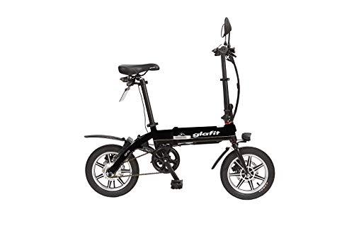 glafitバイク GFR-01 【スタートアップキット】漕げる折りたたみ電動バイク (延長保証・ナンバー取得付き) スーパーブラック