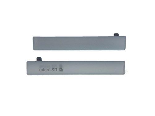 互換品 ソニー スマホ Xperia Z3 Compact 用 サイド キャップ カバー 2点セット 3C (1 ホワイト)