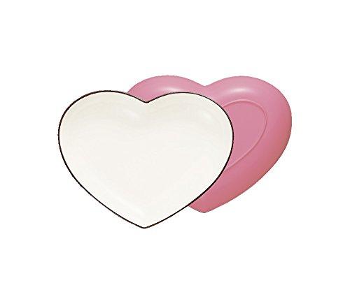 ハウスホールド felice フェリーチェ ハート カレー & パスタ 皿 ピンク 食器洗い機対応 電子レンジ対応
