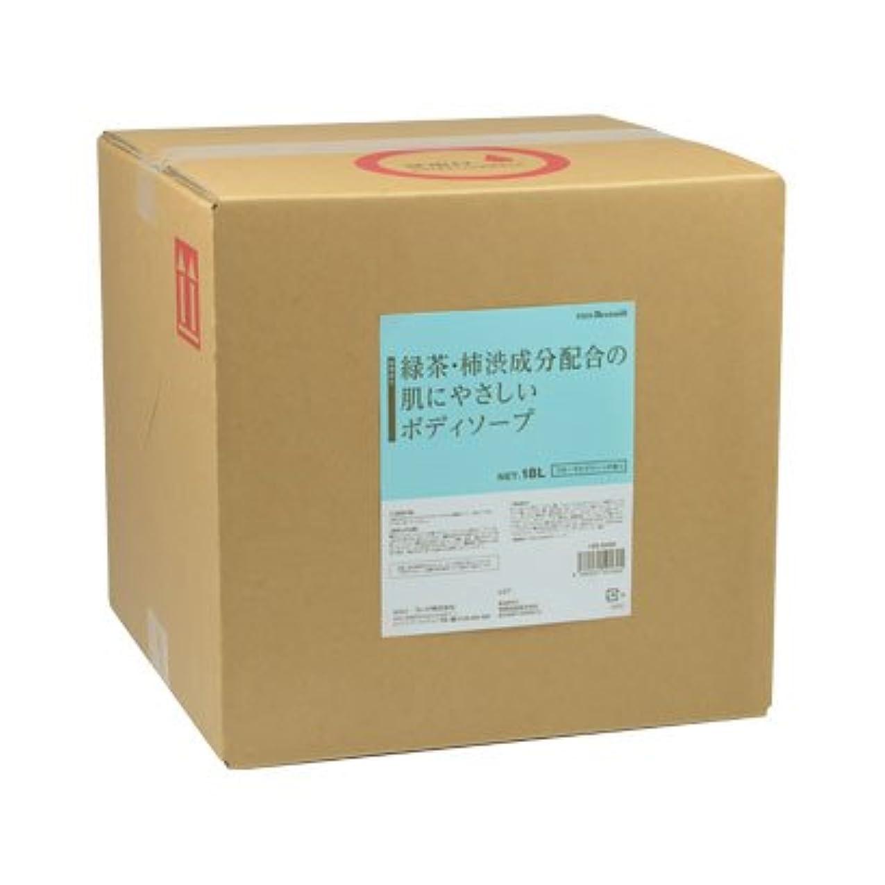 出撃者配置サイクル【業務用】 FEED(フィード) 緑茶?柿渋成分配合の肌にやさしいボディソープ/18L 石けん 入数 1ケース