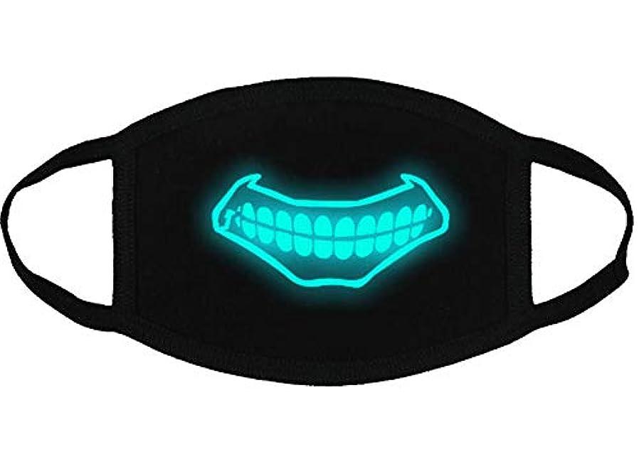 サスペンション背景ラウンジクールな光沢のある歯のパターンコットンブレンドアンチダストフェイスマスク、Y4