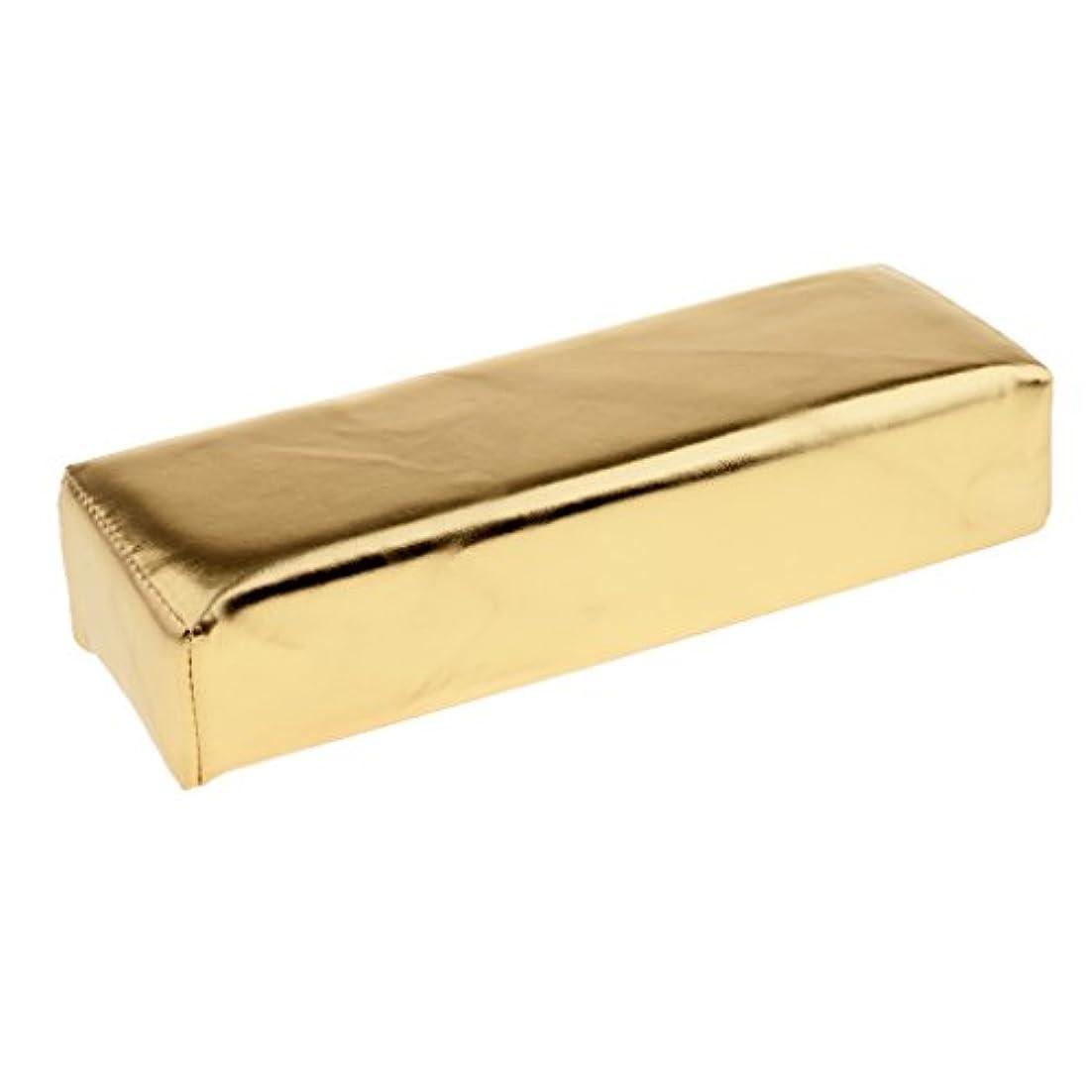緊張スポットソフトウェアHomyl ネイルアート ハンドピロー ソフト クッション ピロー スポンジとPU  多色選べる - ゴールド
