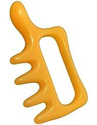 wumio カッサ ツボ押し棒 いいね形 洗える刮痧プレート 持ちやすく押しやすい特殊な形 背中?首筋を女性でも強く指圧 岩盤浴や入浴中にも使えるマッサージ棒