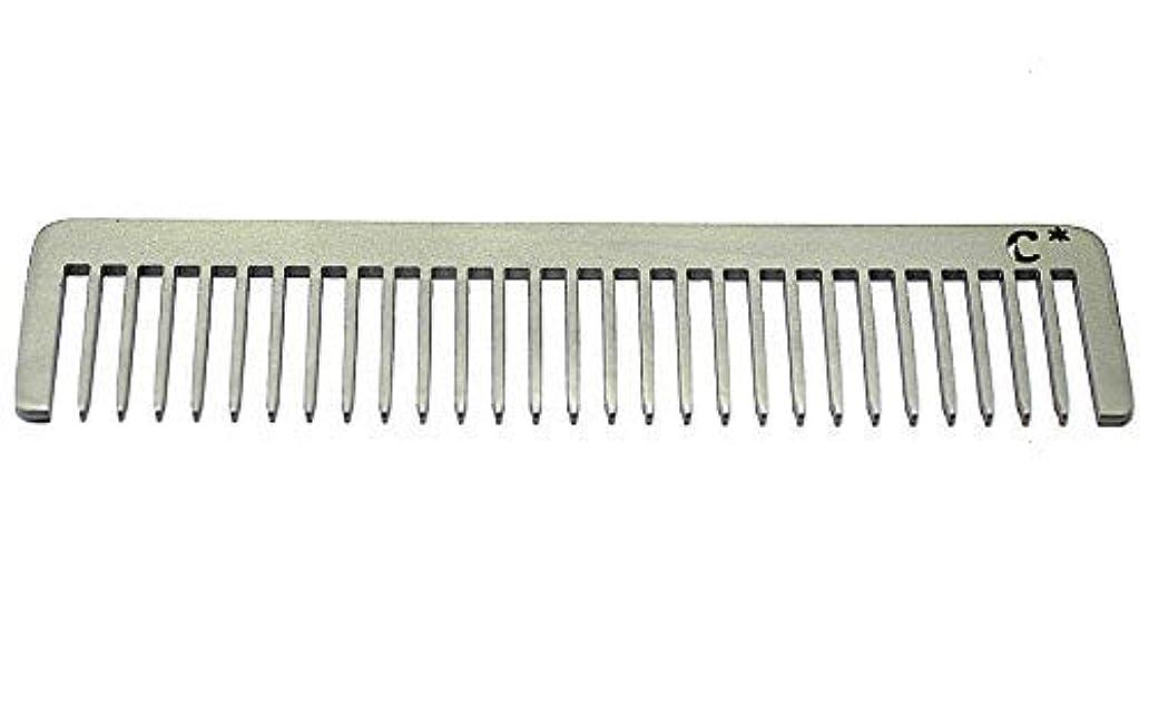 誇張入手します吸収するChicago Comb Long Model 5 Standard, Made in USA, Stainless Steel, Wide Tooth, Rake Comb, Anti-Static, Ultra-Smooth...