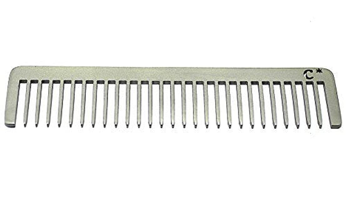 賢明な懐疑的バイソンChicago Comb Long Model 5 Standard, Made in USA, Stainless Steel, Wide Tooth, Rake Comb, Anti-Static, Ultra-Smooth...