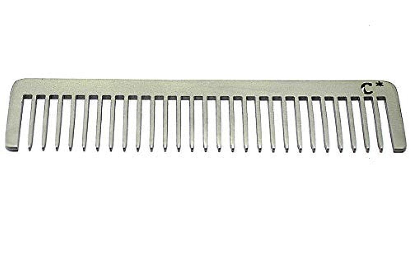 言う些細巻き戻すChicago Comb Long Model 5 Standard, Made in USA, Stainless Steel, Wide Tooth, Rake Comb, Anti-Static, Ultra-Smooth...