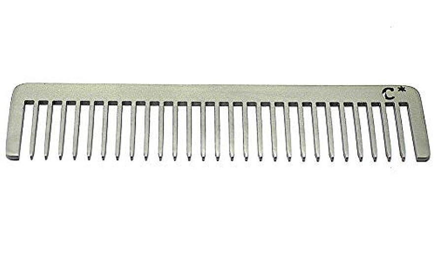ドラッグカード風が強いChicago Comb Long Model 5 Standard, Made in USA, Stainless Steel, Wide Tooth, Rake Comb, Anti-Static, Ultra-Smooth...