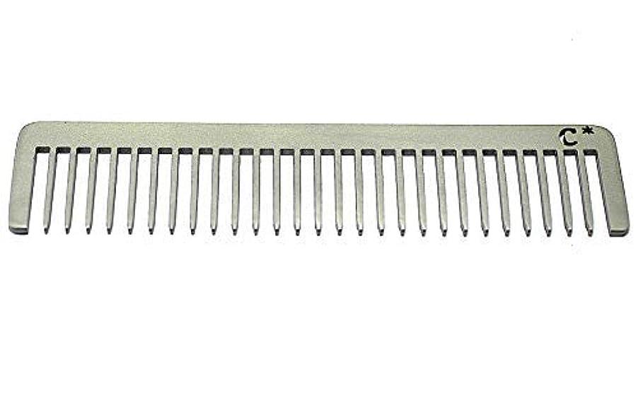 挑む農業薄いChicago Comb Long Model 5 Standard, Made in USA, Stainless Steel, Wide Tooth, Rake Comb, Anti-Static, Ultra-Smooth...