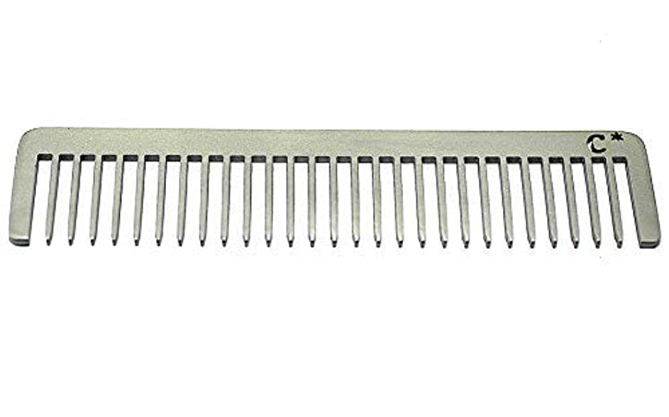 Chicago Comb Long Model 5 Standard, Made in USA, Stainless Steel, Wide Tooth, Rake Comb, Anti-Static, Ultra-Smooth...