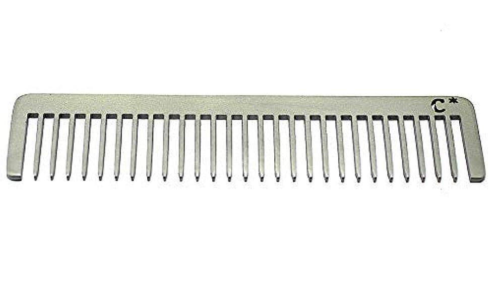 評価するカブ人物Chicago Comb Long Model 5 Standard, Made in USA, Stainless Steel, Wide Tooth, Rake Comb, Anti-Static, Ultra-Smooth...