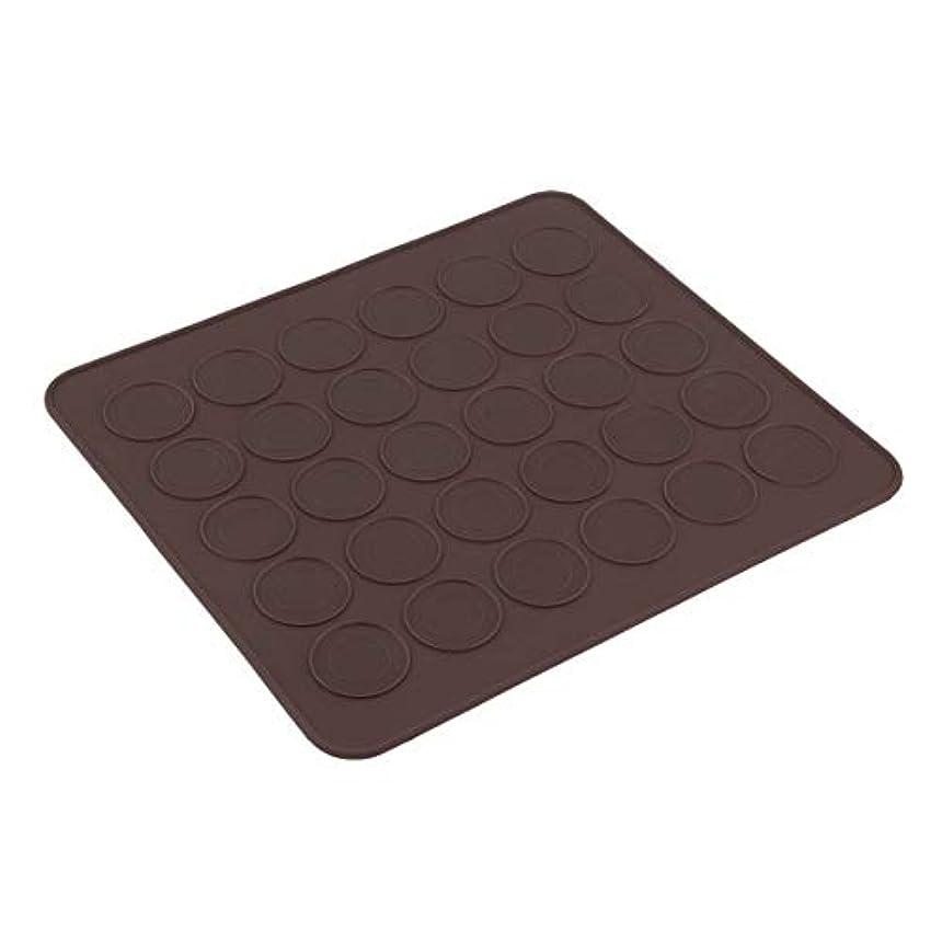 シンクもっとメモMolySun プロの大30マカロン/マフィンシリコーンベーキングペストリーシートマットカップケーキ型トレイベーキングペストリーモールドシートマット