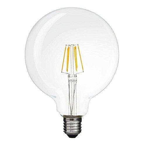 エジソン電球 LEDクリア電球 E26口金 80w相当 フィラメント型 led ボール電球 電球色 広配光タイプ レトロ電球 アンティーク エジソンランプ 調光不可 1個セット