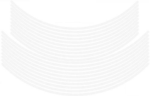 エムディーエフ(MDF) リムストライプ ソリッドタイプ ホワイト 【文字なし 無地】 6mm幅 17&19インチ RIM-6M-WH-17&19N
