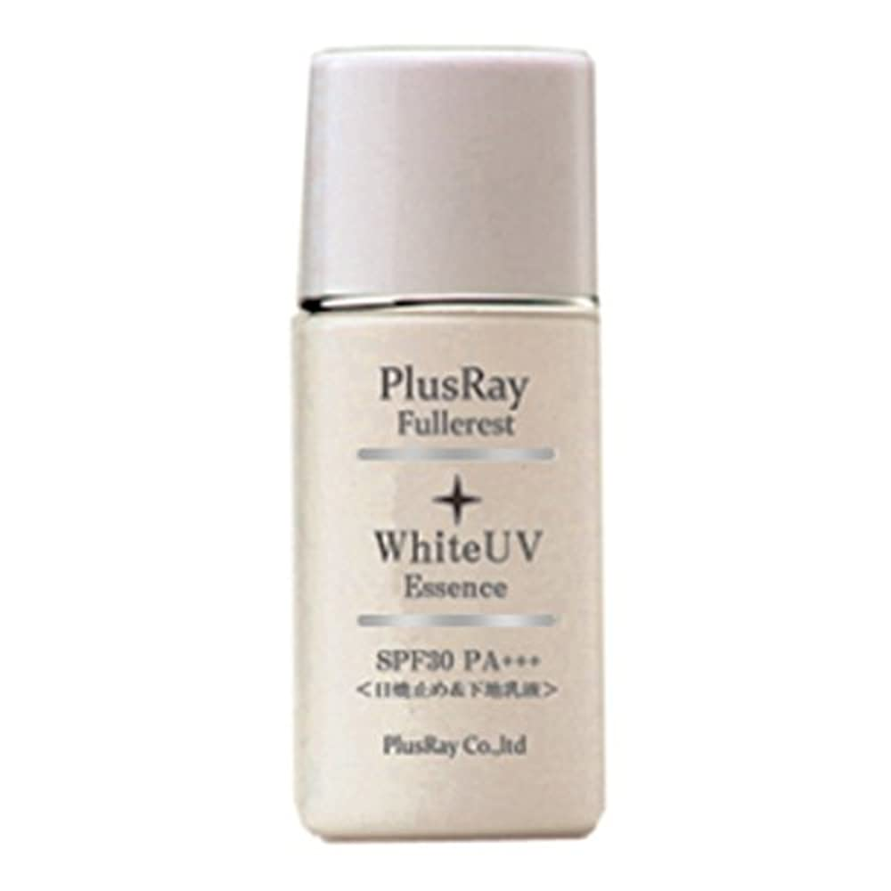 世紀前投薬西プラスレイ(PlusRay)化粧品 フラーレスト ホワイト UV エッセンス 化粧下地 紫外線対策 A波 B波 対応 乳液タイプ