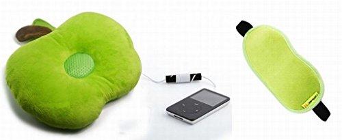 アップル型 クッション 音楽を聞きながら お昼寝 りんご 安眠枕 (スピーカー内蔵)
