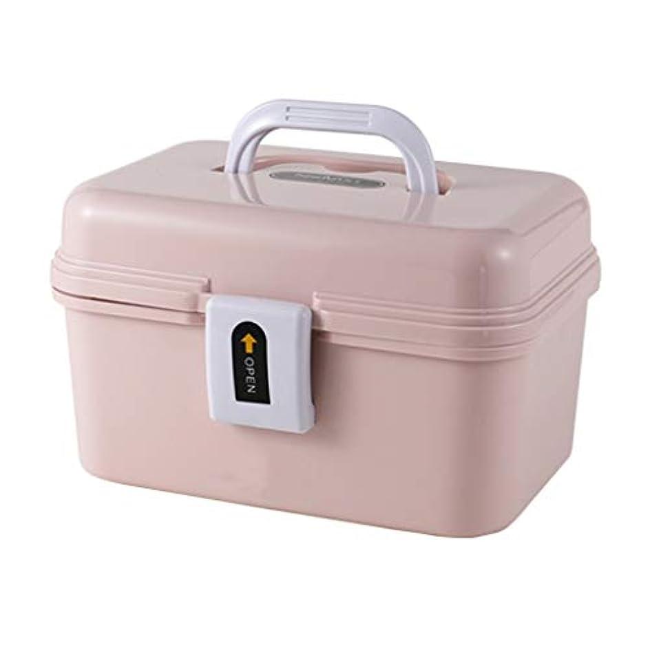 薬箱家庭用携帯家族のフルセットの子供の医療箱応急処置医療箱薬箱収納ボックス LIUXIN (Color : Pink)