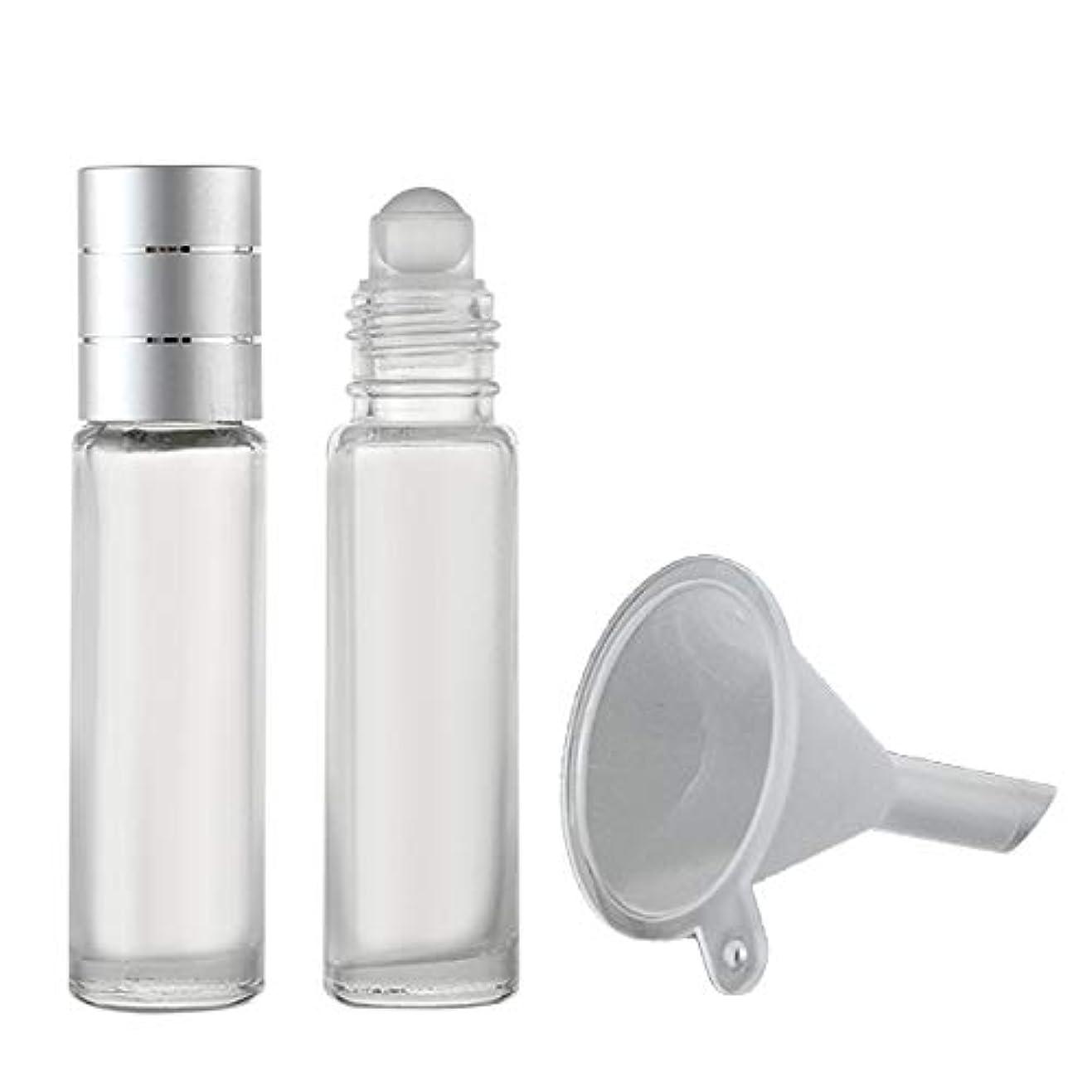 お客様フィヨルド吸収フェリモア ロールオンボトル 香水瓶 パフュームローラー アロマ 携帯 詰め替え 漏斗付き 8ml (2本セット)