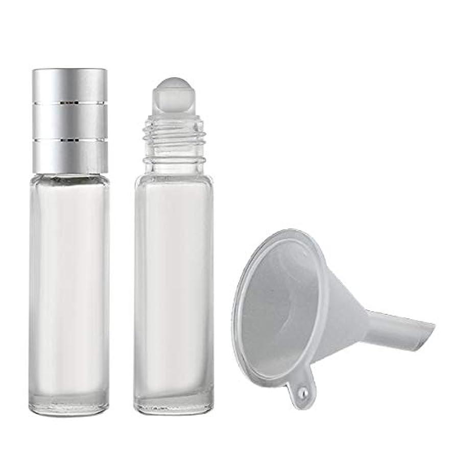 壁紙鏡ロバフェリモア ロールオンボトル 香水瓶 パフュームローラー アロマ 携帯 詰め替え 漏斗付き 8ml (2本セット)