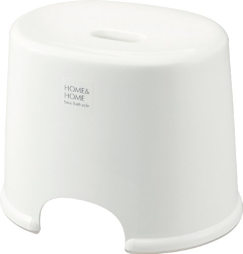 リス 風呂椅子 『H&H防カビ加工』高さ25cm ホワイト